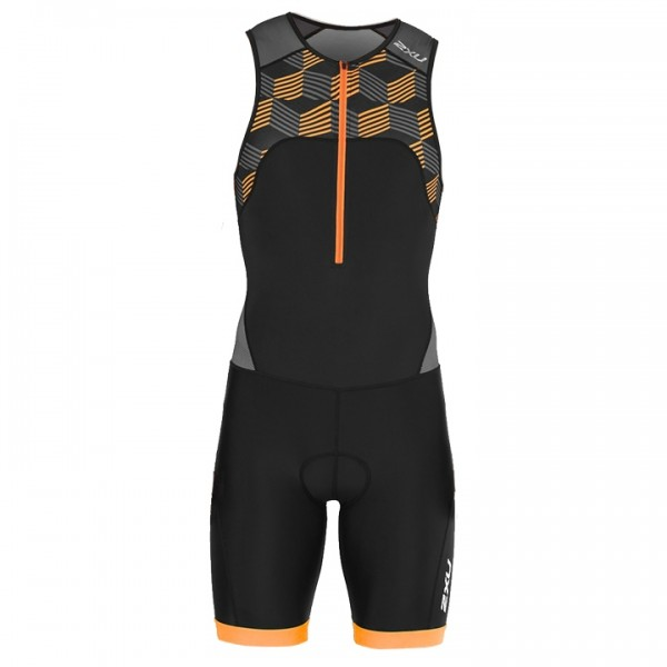 Body triathlon 2XU Active nero - arancione