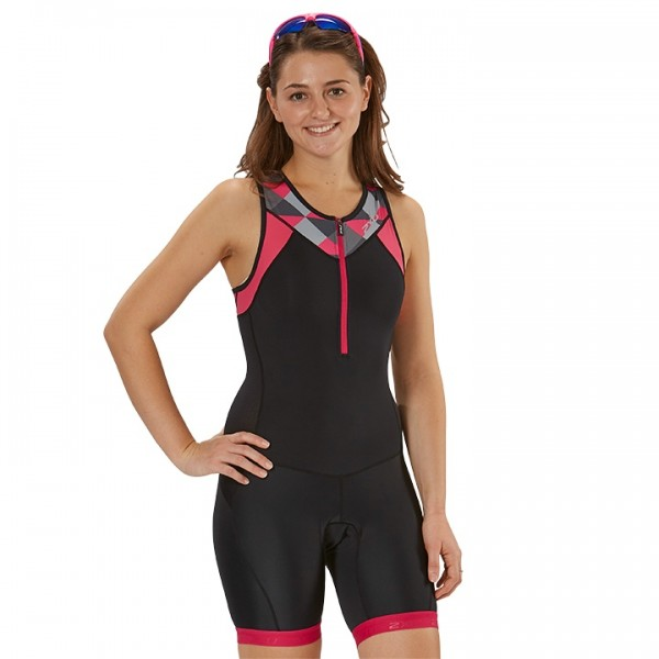 Body triathlon 2XU Active nero - fucsia