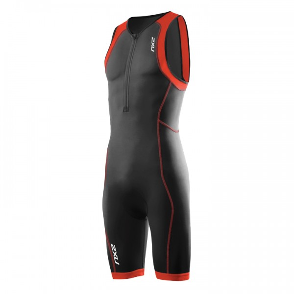 Body triathlon 2XU G:2 Active nero-arancione