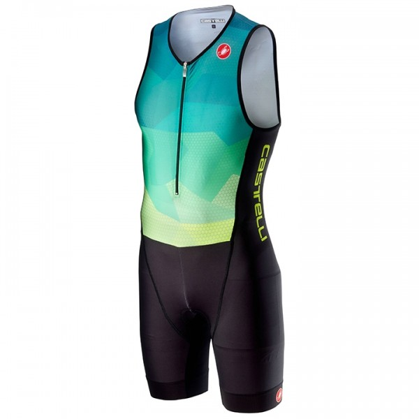 Body triathlon smanicato Core giallo neon - nero - blu - multicolore