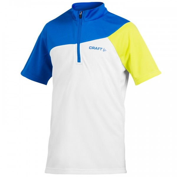 Bikeshirt CRAFT Loosefit bianco-blu-verde