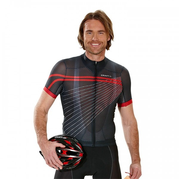 Maglia CRAFT Elite Bike Mesh Superlight nero-rossa