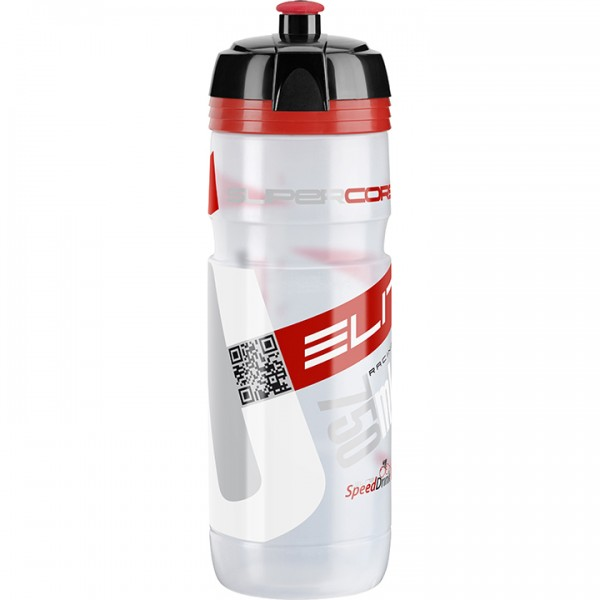 Borraccia ELITE Supercorsa Elite 750 ml, trasparente-rossa