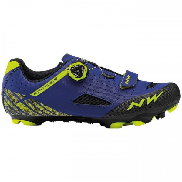 Scarpe MTB NORTHWAVE Origin Plus 2019 giallo neon - blu