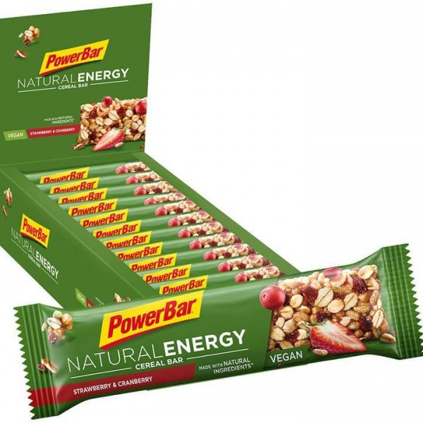Barrette POWERBAR Natural Energy Cereal Strawberry Cranberry 24 pezzi/cartone