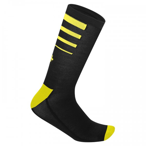 Calze ciclismo rh+ Feel 15 nero-gialle